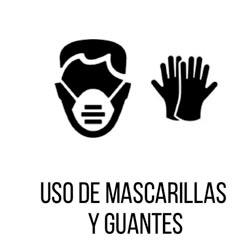 usamos guantes y mascarillas para preparar todo por tu seguridad